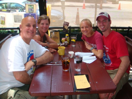At Tupelo Honey Cafe in Asheville after our Camping Trip!  May 2009
