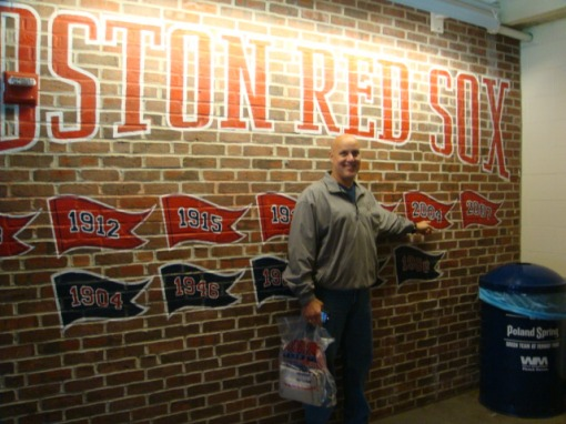 Inside Fenway - really old and historical stuff! You could feel the history!