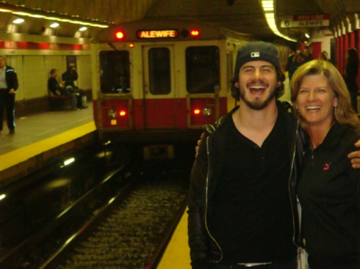 We had a blast riding the subway (the T) in Boston!