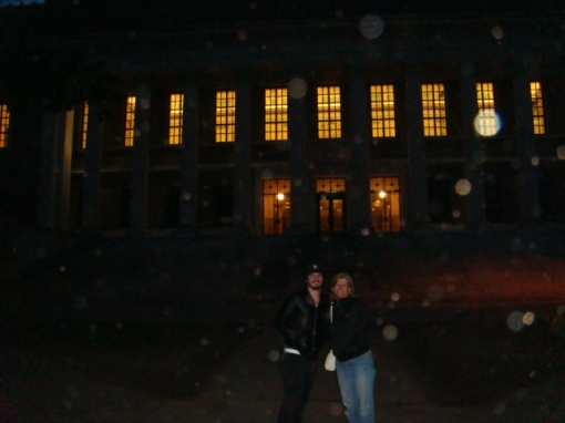 Karen and Daniel in front of the Harvard Library.  Karen wrote most of the books there!