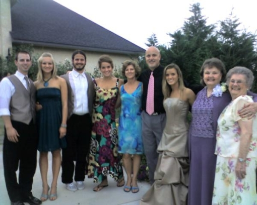 The whole family at Michaels (my nephew) wedding