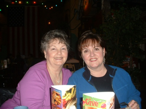 Thats my mom with my sister, Jan.  They live in Va Beach, VA.  Love them both!
