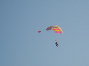 This is Karen Skydiving on her 50th Birthday last year!